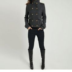 Double breasted coat military coat