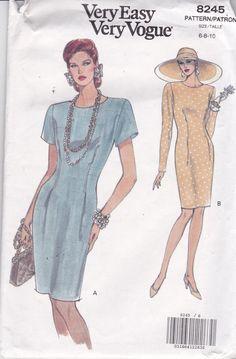 Vogue 8245 Vintage Muster Womens Semi hautenge Kleid von OhSewVogue
