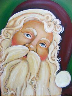 Folk Art Santa Claus Painting