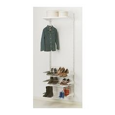 ALGOT Wall upright/rod/shoe organizer - IKEA For the entry way closet; keep shoes and boots organized!