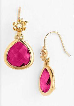 REVEL: Pink Drop Earrings
