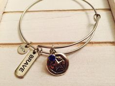 Rise and rise until lambs become lions charm Bangle Bracelet, Adult size, Captain America Themed Bracelet by FairytaleBangles on Etsy https://www.etsy.com/listing/476206537/rise-and-rise-until-lambs-become-lions