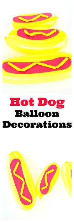 Hot Dog Balloon Decorations