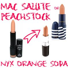 MAC Peachstock or Salute dupe NYX Orange Soda