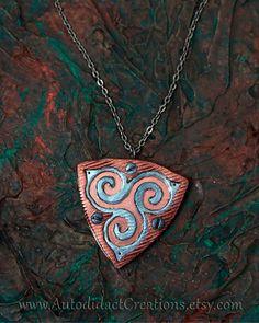 Celtic Triskele Necklace by AutodidactCreations on Etsy. AutodidactCreations.etsy.com