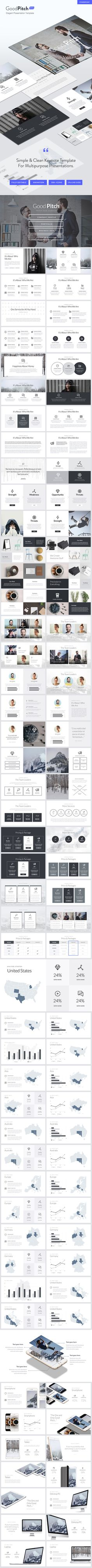 Good Pitch  Elegant Powerpoint Template — Powerpoint PPTX #black and white #pitch • Download ➝ https://graphicriver.net/item/good-pitch-elegant-powerpoint-template/19427289?ref=pxcr