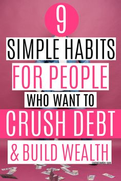 Are you ready to crush debt and build wealth? These money tips will teach you how you can pull yourself out of debt, build wealth, and get rich. #debtfree #moneyhabits #debtpayoff #payingoffdebt Budgeting Finances, Budgeting Tips, Ways To Save Money, Money Tips, Debt Snowball Worksheet, Debt Free Living, Get Out Of Debt, Debt Payoff, How To Get Rich