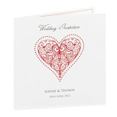 red beaded heart invite from paperthemes