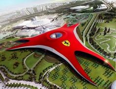 Dubai Attraction, largest ferrari dealership in the world...
