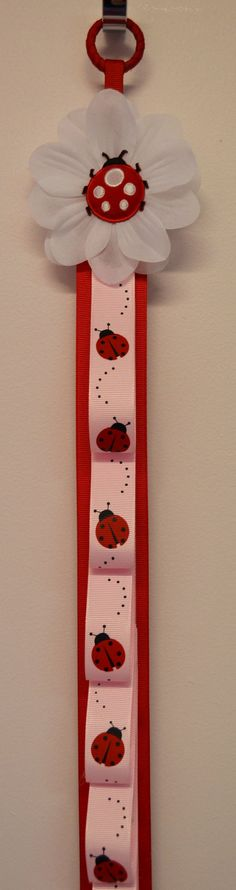 Ladybug Ribbon Headband Holder by Funnygirldesigns on Etsy, $22.00