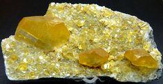 Red Calcite on matrix, Scheelite Crystals on Quartz, Calcite w/Scheelite and Quartz, Fluorite, w/Muscovite & Scheelite, Yellow Calcite on matrix