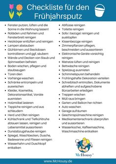 So vergisst du nichts: Die Checkliste für den Frühjahrsputz! In the spring big plaster is announced. But where do I start and how can I check if I forgot nothing? Checklist for the # Spring Cleaning Spring Cleaning Checklist, Deep Cleaning Tips, Cleaning Hacks, Filofax, Order Of The Day, Better Life, Getting Organized, Spring Break, Clean House