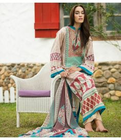 Ayesha Zara Embroidered Lawn Collection AZ_07B