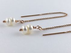 Rose+Gold+Threader+Earrings+with+Freshwater+Pearls,+Rose+Gold+Ear+Threads,+Gift+Ideas+for+Women,+Gift+Ideas+for+Friend,+Rose+Gold+Earrings+by+AustinDowntoEarth+on+Etsy