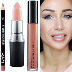 mac makeup looks smoky Mac Myth Lipstick, Best Drugstore Lipstick, Green Lipstick, Natural Lipstick, Lipsticks, Makeup Dupes, Skin Makeup, Nyx Lip Liner Swatches, Mac Makeup Looks