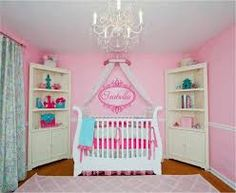 Image result for images of pink bedrooms with blue and green accents
