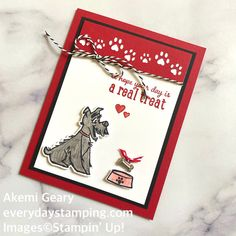 Everyday Stamping 〜スタンピン・アップ ! 癒しのペーパークラフト〜 -2ページ目 Cat Cards, Kids Cards, Dog Cards Handmade, Dog Shadow Box, Baby Girl Cards, Stamping Up Cards, Animal Cards, Scrapbook Cards, Homemade Cards