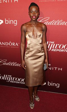 Lupita Nyong'o Photos - The Hollywood Reporter's Annual Nominees Night Party - Zimbio