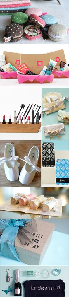 Useful gifts for bridesmaids.