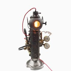 Unibro Design Transforms Automotive Parts to Create Lighting Designs | www.modernfloorlamps.net #uniquelamps #modernfloorlamps #lightingdesign