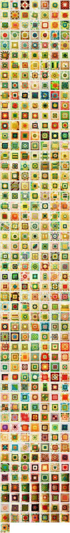 365 granny squares - one a day... blog 365 granny. Una al giorno Tutte le granny del mondo