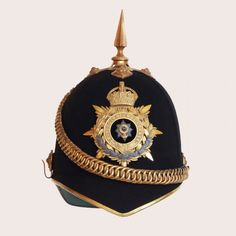 Worcestershire Regiment Officers Home Service Helmet. Formed by an amalgamation of the 29th and 36th regiments of foot under the 1881 Childers reforms, the regiment saw heavy fighting in the Second Boer War. After exemplary service in the World Wars the regiment was further amalgamated and is now part of the Mercian Regiment.