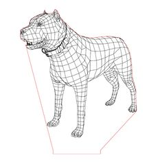 Staford dog illusion lamp plan vector file for CNC - 3d Illusion Art, 3d Dog, 3d Light, Dog Years, Lampe Led, Led Night Light, Animal Sculptures, Vector File, Plexus Products