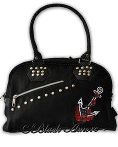 Rockabilly Bag Nautical Anchor Polka Dot Vintage Retro Shoulder Bag Voodoo Vixen   eBay