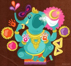 Ganesha - Remover of obstacles....I LOVE this picture :)
