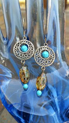 Handmade Sterling Silver Dream Catcher Earrings by BeccaTheCraftmeister on Etsy