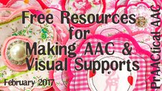 Free Resources for Making AAC and Visual Supports from PrAACtical AAC. Pinned by Amanda Vasquez Speech Language Therapy, Speech Therapy Activities, Speech And Language, Communication Book, Family Support, Spectrum Disorder, Language Development, How To Make, Free