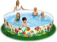 Cheap plastic pool. My favorite part of summer as a kid.