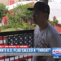 [Watch] Texas Resident is told to remove his American Flag because it's offends Muslims
