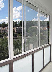 Rámový posuvný hliníkový systém Balcony, Windows, Balconies, Ramen, Window