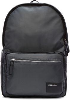 Diesel - Grey Drum Roll Backpack