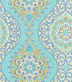 Home Decor Print Fabric- Waverly Moonlit Medallion Celestial