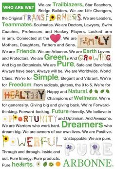 Arbonne manifesto. Want to know more? Watch this short video! http://pages.oprius.com/JU1QH