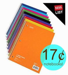 *HOT!* Staples.com:  1 Subject Notebooks = 17¢ + FREE Shipping!  Regularly $1.61 each!