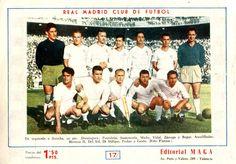 Equipos de fútbol: REAL MADRID contra Atlético de Madrid 26/06/1960