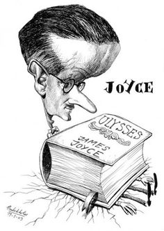 James Joyce by Pablo Morales de los Rios James Joyce, Finnegans Wake, Funny Caricatures, World Literature, Ex Libris, Cultura Pop, Greatest Hits, Satire, Persona
