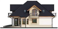 Elewacja lewa projektu Dandys 1 G2 Home Fashion, House Plans, 1, Cabin, Mansions, Architecture, House Styles, Home Decor, New Homes