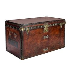 Louis Vuitton Brown Vuittonite Canvas Steamer | From a unique collection of antique and modern home accents at https://www.1stdibs.com/furniture/more-furniture-collectibles/home-accents/