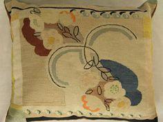 Needlepoint cushion, Charleston, V Bell & E Grant