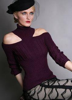 open shoulder pullover knitting pattern
