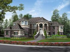 30 Surprising Information Regarding Dream House Exterior Mansions Luxury Entrance Exposed - walmartbytes French Country House Plans, European House Plans, Country Style Homes, Dream House Exterior, Elegant Homes, House Goals, My Dream Home, Dream Big, Future House
