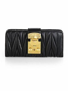 Miu Miu - Matelasse Continental Wallet - Saks.com