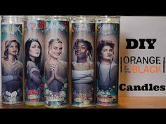 DIY Orange Is The New Black Candles - YouTube