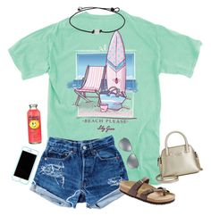 """Go and comment on my ""Casual Day"" set I posted a few days ago for some likes and possibly a follow!"" by hopemarlee ❤ liked on Polyvore featuring Levi's, Birkenstock, Lilly Pulitzer, Ray-Ban, Kate Spade, women's clothing, women, female, woman and misses"