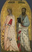 "New artwork for sale! - "" Saint Catherine And Saint Bartholomew by Allegretto Nuzi "" - http://ift.tt/2njLwMQ"
