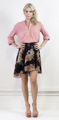 Playful skirt with asymmetric hemline #halcyonstate